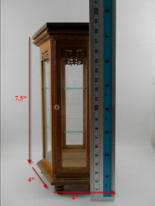 Small Wood Teak Cabinet Handmade Carved Thai Craft Cupboard Furniture Dollhouse