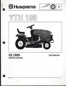 1999 Husqvarna Yth 180 Riding Lawn Garden Tractor Mower