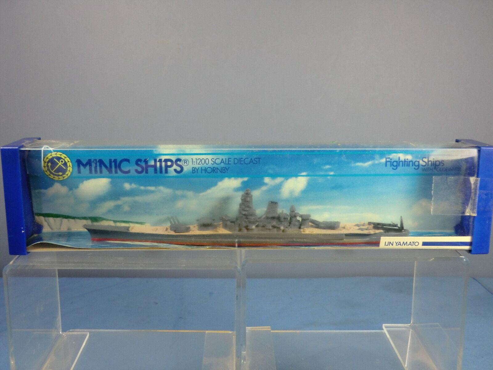 TRI ANG HORNBY MINIC NAVE modello M744 IJN  YAMATO  CORAZZATA VN Nuovo di zecca con scatola