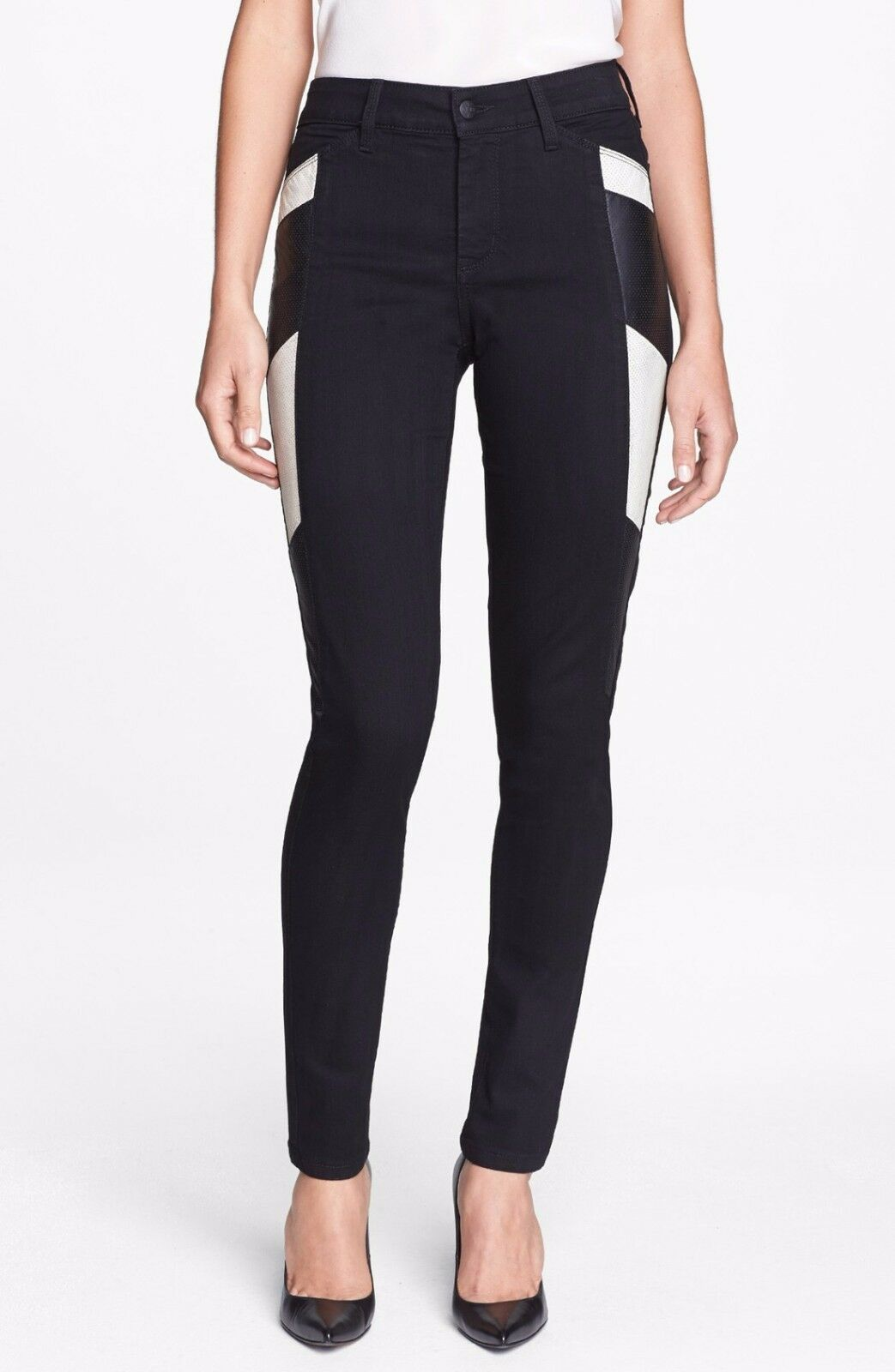 Nouveau NYDJ Not Your Daughters Jeans Pantalon Aiden Panel Leggings Noir 8