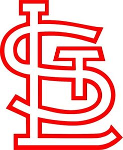 st louis cardinals mlb vinyl decal sticker baseball logo laptop wall rh ebay com  st louis cardinals baseball clipart
