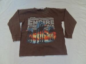 Star-Wars-The-Empire-Strikes-Back-L-S-T-shirt-Size-X-Small-Lucas-At-At-Walker