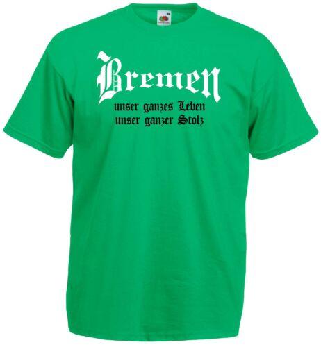 Bremen Herren T-Shirt unser Leben unser Stolz Ultras