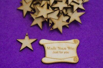 Laser cut wooden shape 4cm 3cm MDF Christmas Xmas Stocking one hole 2cm 5cm