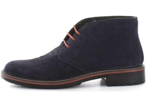 terciopelo de 8682 con Zapatos de Co de de cuero Igi cordones ante de Zapatillas deporte charcoal azules zUwHv5q