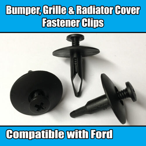 10x Clips for Ford Bumper Grille Radiator Cover Trim Panel Retainer Fastener