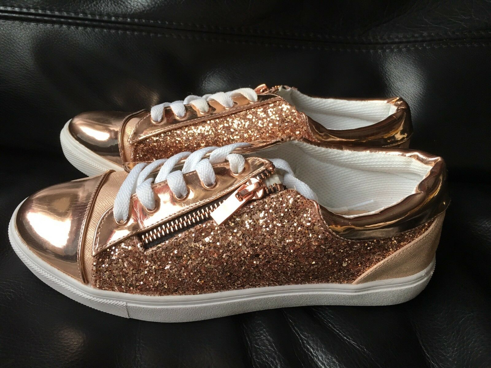 ⭐️Dune Head Over Heels gold Glitter Trainers - Size 5   38 - New ⭐️