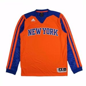 New-York-Knicks-Adidas-Authentic-On-Court-Performance-Shooter-Shooting-Shirt-Men