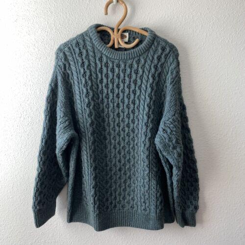 Vintage Aran Irish Wool Cable-knit Fisherman Knit