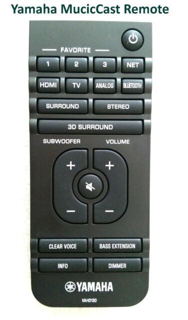 Yamaha VAH0130 Remote Control for YAS-408 MusicCast BAR 400 YAS408