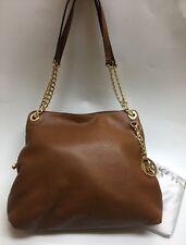MICHAEL Michael Kors Jet Set Shoulder Tote Bag Tan Luggage Leather Chain Strap