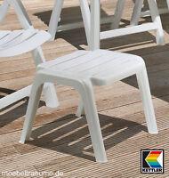 Kettler Rimini Luxus Hocker In Weiß Lackiert Fußhocker Gartenmöbel Fusshocker