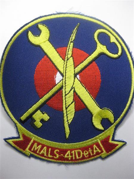 U.S. Marines Marine Aviation Logistics Detachment ESCADRILLE 41 Detachment Logistics a écusson patch 88a24a