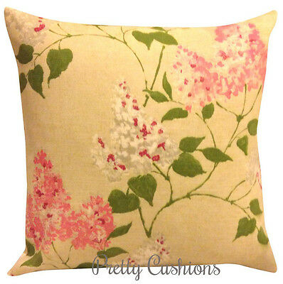 Sanderson Lilacs Pink Cushion Cover 16""