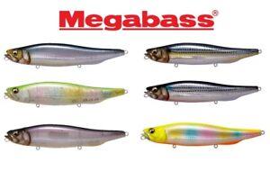 MEGABASS-MEGADOG-220mm-130g-TOPWATER-BASS-STRIPER-PENCIL-PUNKER-SELECT-COLOR