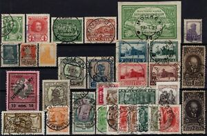 P130516-RUSSIA-STAMPS-LOT-1913-1928-USED-CV-243