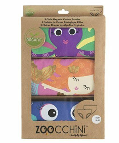 Zoocchini Caribbean Set of 3briefs for Girls 5-6Years