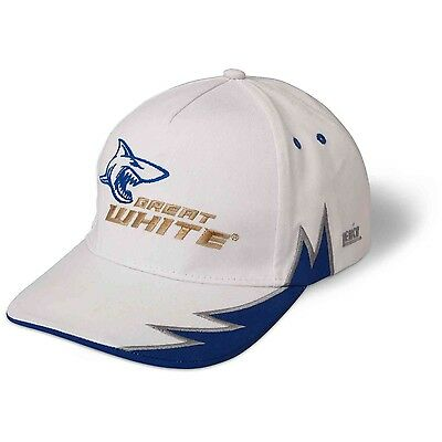 ZEBCO GREAT WHITE BASEBALL CAP HAT SHARK LOGO ONE-SIZE SEA FISHING APPAREL  | eBay