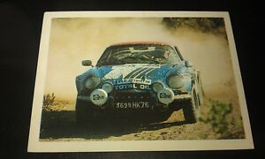 RENAULT ALPINE RALLY CAR - WEETBIX AUSTRALIA Rally Champs Swap Card