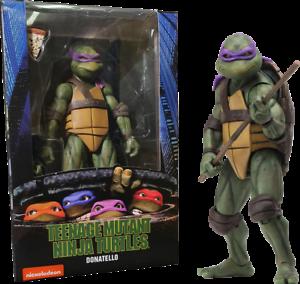 "Teenage Mutant Ninja Turtles 1990 Movie Donatello 7/"" in Action Figure NECA"