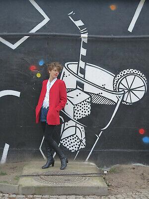 Obbiettivo Hucke Blazer Donna Giacca Jacket Rosso 80er True Vintage 80s Red Women's Jacket-mostra Il Titolo Originale