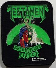 TESTAMENT Greenhouse Effect Original Vintage Printed Sew On Patch RARE