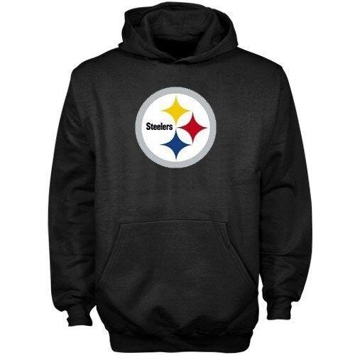 Reebok NFL Pittsburgh Steelers Sudadera (M) Negro