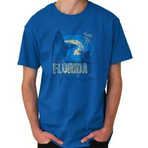 Florida-Sunshine-State-Beach-Surfing-Ocean-FL-Short-Sleeve-T-Shirt-Tees-Tshirts