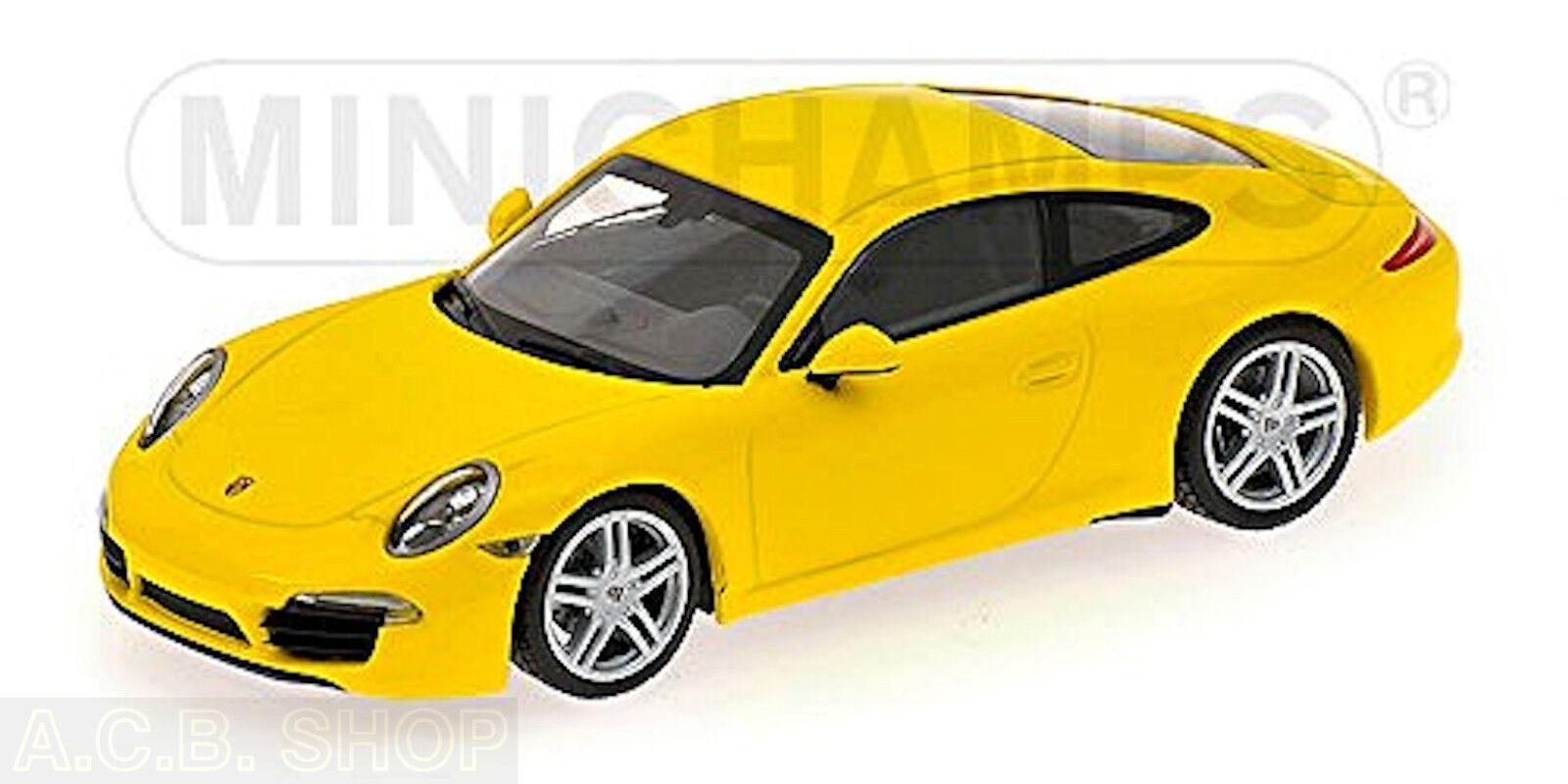 Porsche 911 Carrera Type 991 Coupé 2012-15 Speed Jaune jaune 1 43 Minichamps