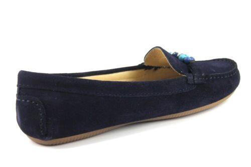 con scamosciata Flats Slip Womens Artigiano On 40 Shoes 7 Blu Uk Mocassino in Eu pelle perla scuro vazwCfq