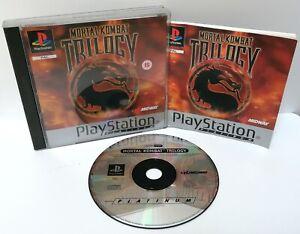 Mortal-Kombat-Trilogy-Sony-Playstation-ps1-Platinum-Spiel-PAL-ausgezeichnete-CIB