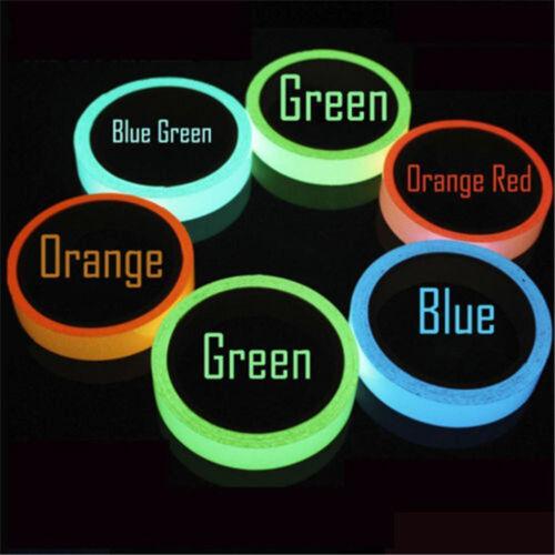 Glow In The Dark Luminous Fluorescent Night Selfadhesive Safety Sticker Tape DIY