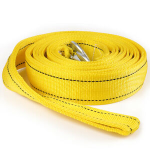 20-000-LB-Capacity-2-034-X-20-039-Car-Tow-Rope-Cable-Towing-Strap-w-Hooks-2-Layer