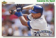 386 ALVIN DAVIS SEATTLE MARINERS  BASEBALL CARD UPPER DECK 1992