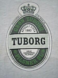 Vintage Cron Tuborg Beer Pilsner Crew Sweatshirt Gray Sz XL Danish Artist Design