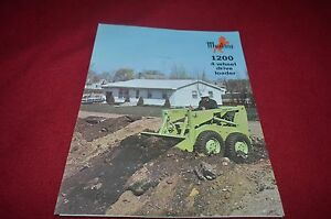 Details about Owatonna Mustang 1200 Skid Steer Loader Dealers Brochure  YABE10