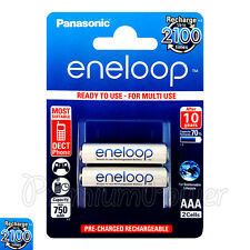 2 x Panasonic Eneloop AAA batteries 750mAh Rechargeable Ni-MH Accu HR03 Phone