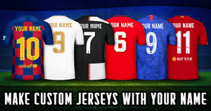 Name and Number Supplement for Retro Shirts