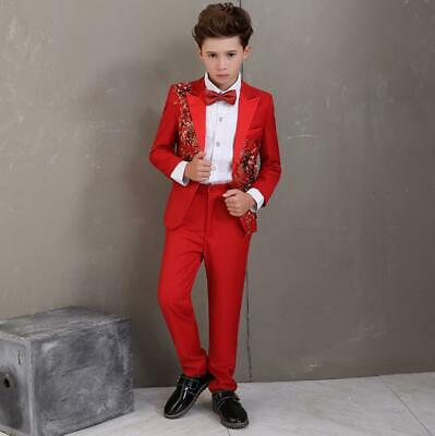 Boys Suit 2-16year 5 Piece Blue Proms First Communion Special Occassion