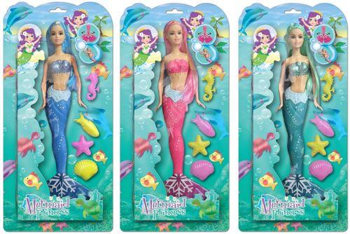 Splendido Sirenetta Bambole Principessa MARE ANIMALI Ragazze Giocattolo Gioco in vasca da bagno Swim