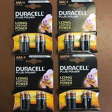16 X Duracell AAA Power Plus alcaline DURALOCK lr03 mn2400 Triplo un