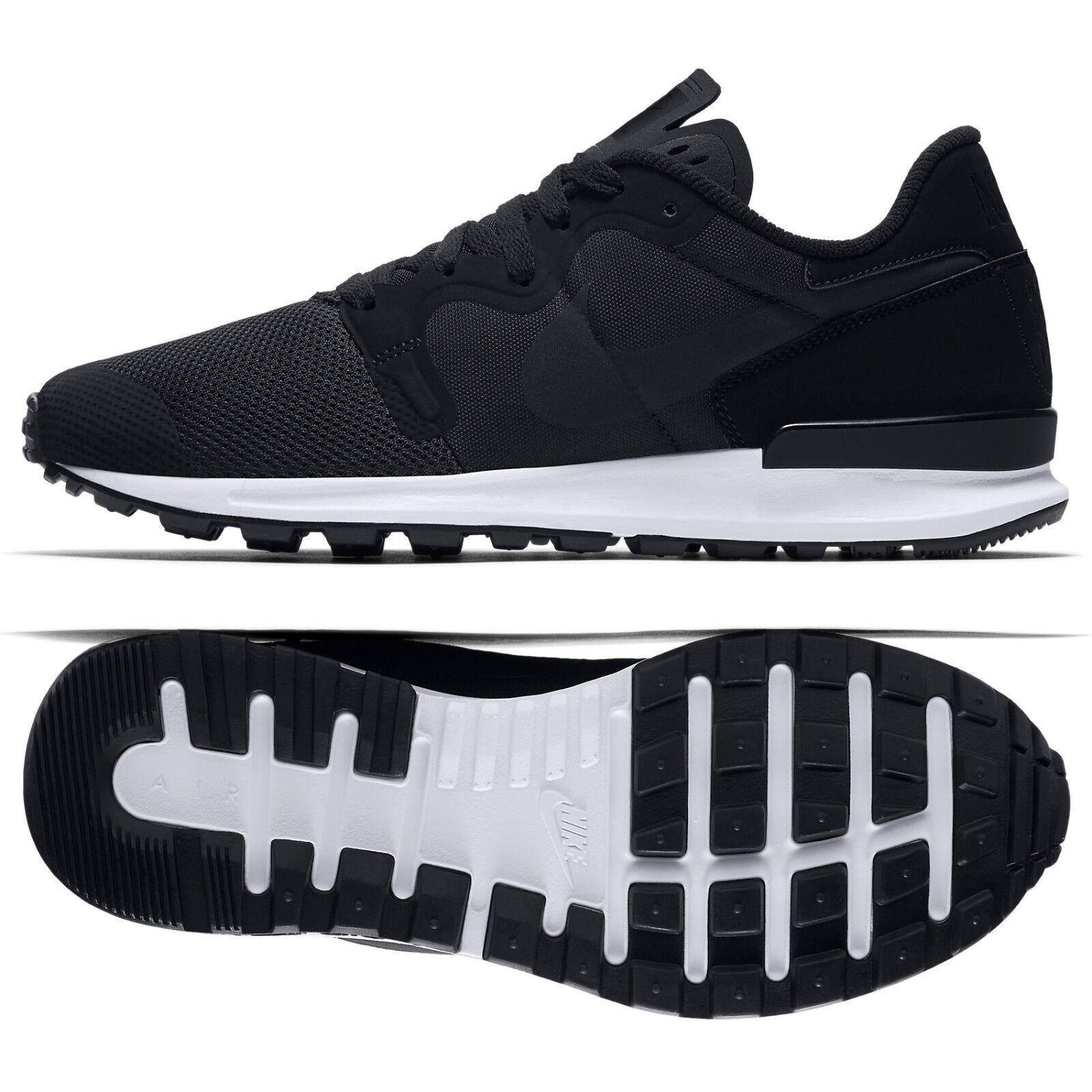 Nike air berwuda 555305-004 nero / bianco tela delle scarpe da uomo camoscio