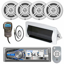 "6.5"" Dual Marine Speakers,Bluetooth Handset,USB AUX Mp3 CD Radio,Housing,Antenna"