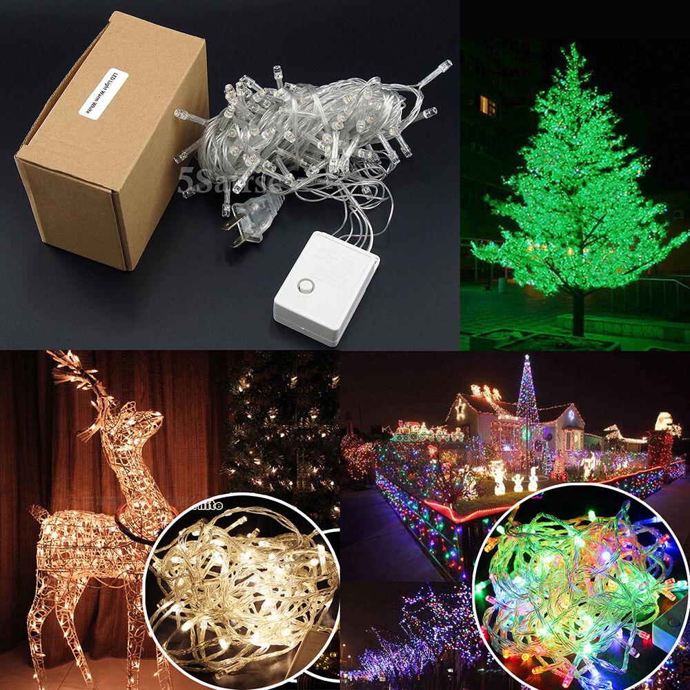 10m 100 Led Christmas Tree Fairy String Party Lights Lamp