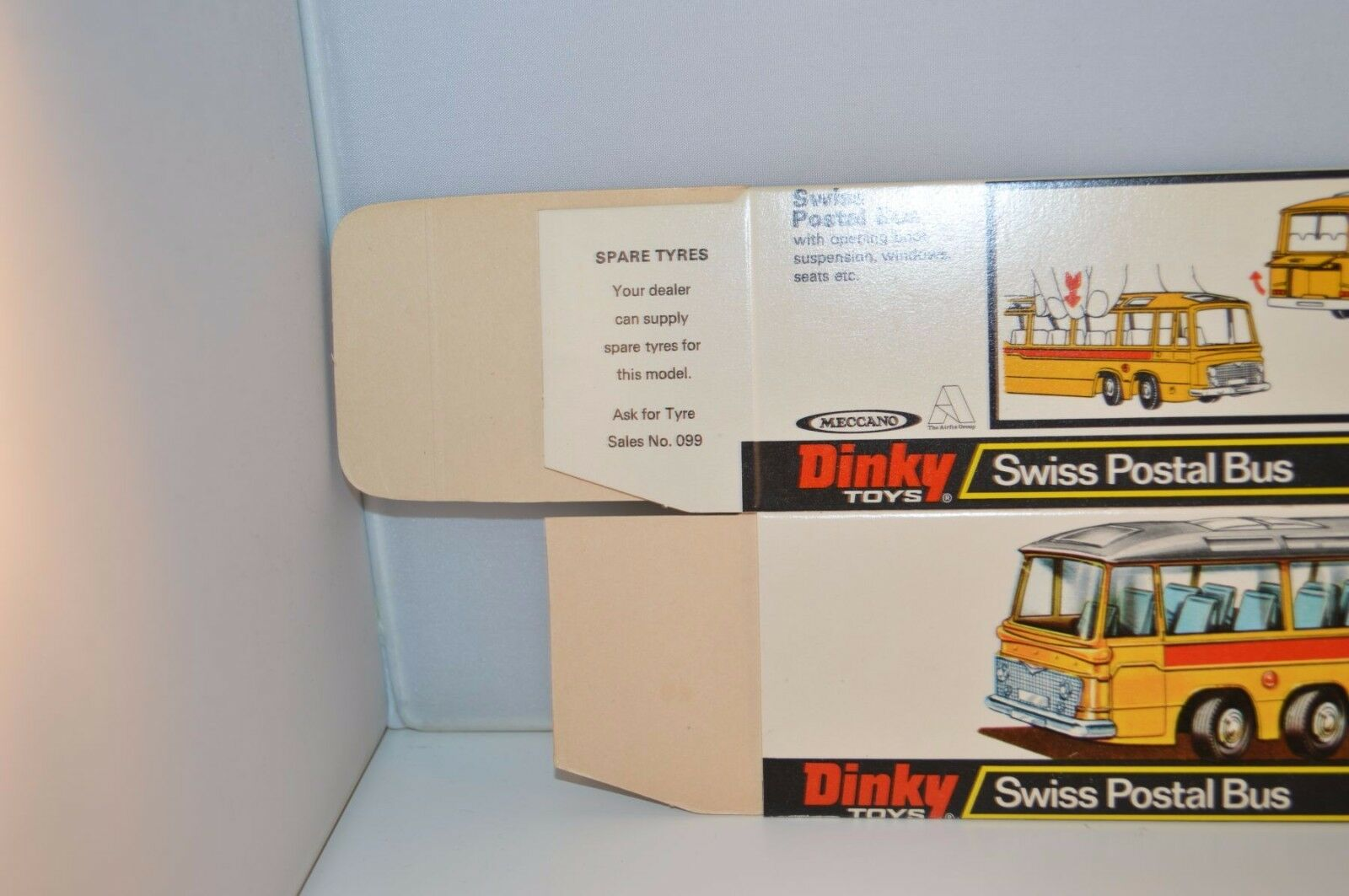 Dinky Toys 961 961 961 Swiss Postal Bus empty perfect mint original complete box SUPERB c8c4eb