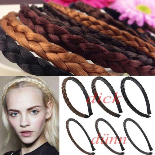Geflochten Haarreifen Haarschmuck Stirnband Zopf Haarband Dirndl Blond Weinrot F