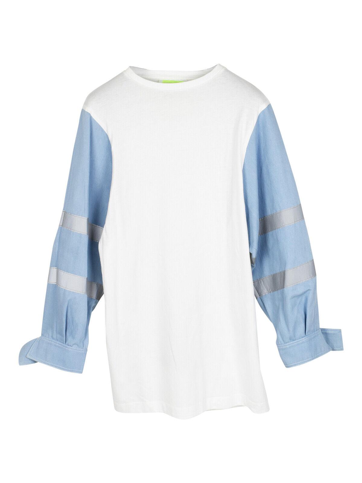 Fyodor Golan denim reflective sleeve oversized shirt