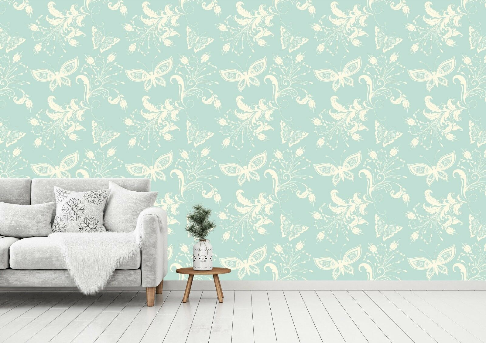 3D Butterfly Floral Blau 5 Wall Paper Wall Print Decal Deco Indoor Wall Mural CA