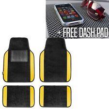 Yellow Carpet Floor Mats For Car Sedan Suv Van Universal Fitment W Dash Mat Fits 2012 Toyota Corolla