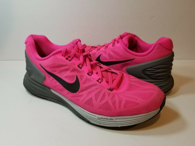 best loved e21b4 a0f13 Nike Lunarglide 6 Women's Pink Running Athletic Shoes - Size 11